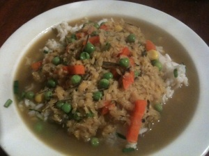 Lentil stew with rice_£1 a day