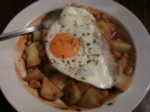 Egg baked beans potato_ £1 a day